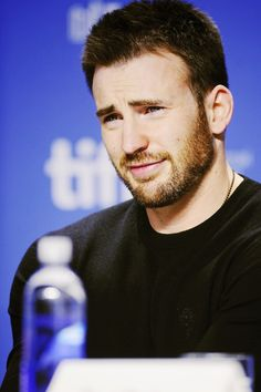 Chris Evans at the Toronto International Film Festival Press Conference for The Iceman (2012)