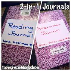 2-in-1 Journals are a great way to save money with interactive notebooks