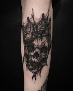 Cool Skull Tattoos For Women – My hair and beauty Emo Tattoos, Tattoos Arm Mann, Badass Tattoos, Arm Tattoos For Guys, Trendy Tattoos, Body Art Tattoos, Hand Tattoos, Badass Tattoo For Men, Tatoos