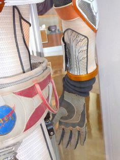 The Martian NASA astronaut costume detail