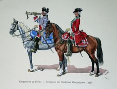 Gendarmerie de France - Compagnie de Bourgogne, 1762. Click on image to ENLARGE.