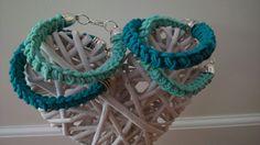 Bracciali verde acqua e turchese  creati con filo elastico