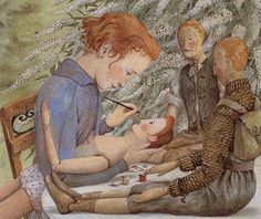 Beautiful illustration by Angela Barrett from The Hidden House (Walker Books, 1990)