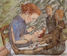 Beautiful illustration by Angela Barrett from The Hidden House (Walker Books, 1990)