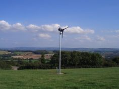 Domestic wind turbine to new house in Somerset