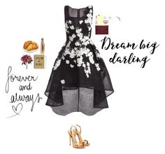 """""""On Charlotte Street #6"""" by nebulalights ❤ liked on Polyvore featuring Jovani, Rimmel, Giuseppe Zanotti, Alex Monroe, Montblanc, Rebecca Minkoff, S'well, RTR Bridal Accessories, Accessorize and Casetify"""