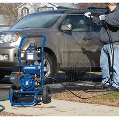 Even the toughest cleaning jobs are no match for this Powerhorse Pressure Washer. With GPM and 3000 PSI at your fingertips, you can blast through mud, dirt and debris quicker and more easily, boosting productivity and saving money. Fall Clean Up, Washer, Mud, Productivity, Saving Money, Baby Strollers, Cleaning, Baby Prams, Save My Money