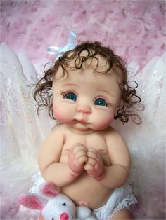 "❤OOAK HAND SCULPTED BABY GIRL ""SWEETS"" PRAYING  BY: JONI INLOW* DOLLY-STREET❤"