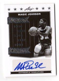 MAGIC JOHNSON NBA 2012 LEAF LEGENDS OF SPORT ARE THE CHAMPIONS AUTO   10 ( 20e9c5ef3