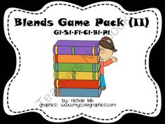 Blends Game Pack II from Whos On First on TeachersNotebook.com -  (17 pages)  - Covers The Blends: Bl, Cl, Fl, Gl, Pl, and Sl. 1 Game - 22 Picture Cards - 2 Picture Sorts - 4 Worksheets
