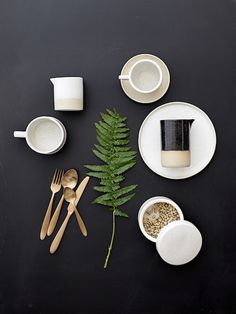 The stylish retro trend really shines through with the new Barbara tableware. The minimalistic form combined with rustic ceramics and fine white glaze looks lovely. If you havent guessed already were smitten! // // by bloomingville_interiors Design Set, Food Design, Flat Lay Photography, Still Life Photography, Food Photography, Photo Deco, Prop Styling, Royal Doulton, Kitchenware