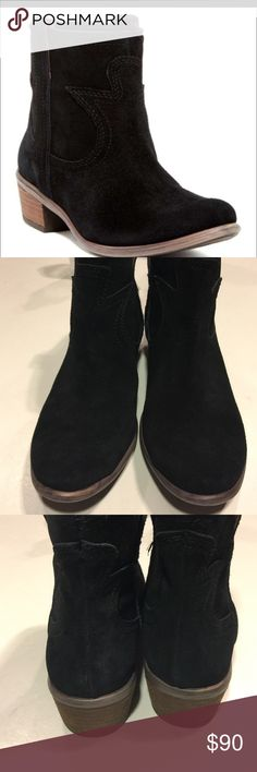 New Lucky Brand Terra Black Suede Pull On Boots New Lucky Brand Terra Black Suede Pull On Boots. Size 7.5. No defects. No box. Very very comfortable and cute! Lucky Brand Shoes Ankle Boots & Booties