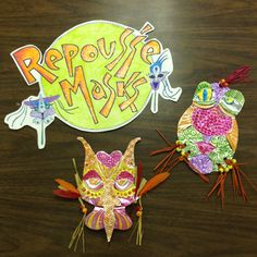 Repousse masks for 6th grade!