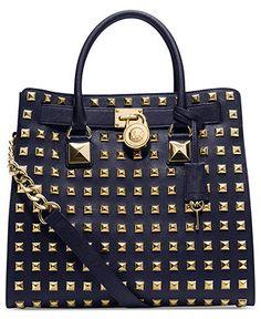 MICHAEL Michael Kors Handbag, Hamilton Stud Large North South Tote - MICHAEL Michael Kors - Handbags & Accessories - Macy's