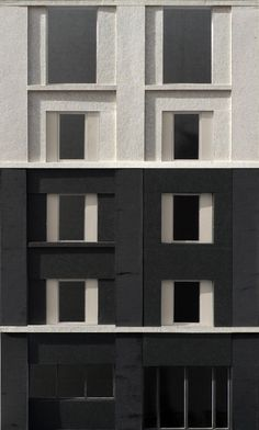 Facade Model Study - 3144 Architects Facade Architecture, Residential Architecture, Contemporary Architecture, Building Skin, Building Facade, Elevation Drawing, Arch Model, Brick Facade, Texture Design