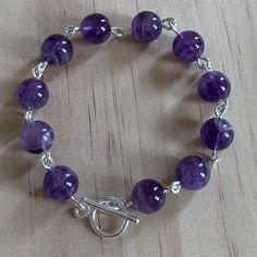 Sterling Silver Sage Amethyst Bracelet
