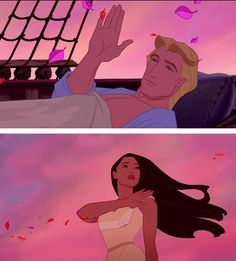 Pocahontas and John Smith (original Pocahontas is way better than the second one)