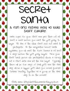 Secret Santa on Pinterest | Secret Santa Gifts, Secret Santa Poems and ...