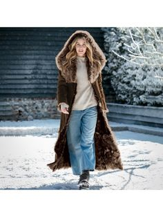 【Clearance Sale💥Shipped Within 24h】Hooded Toscana Coat - inkshe.com Winter Fashion Outfits, Boho Fashion, Sheepskin Coat, British Style, British Fashion, Cardigans For Women, Women's Cardigans, Long Sweaters, Sleeve Styles