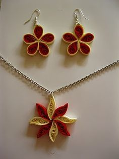 Quilled Earrings Pendant Sets