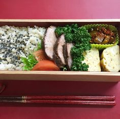 Boiled pork with soy sauce – Japanese lunch box