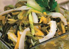 Салат из свежемороженной морской капусты