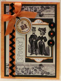 Spooky Halloween Wedding Card by Polly's Paper, via Flickr