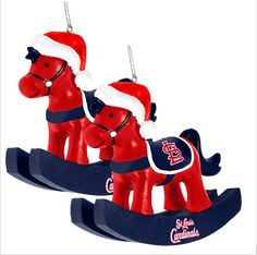 St. Louis Cardinals rocking horse ornaments!