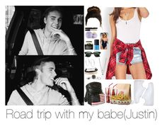 """Road Trip with Justin"" by myllenna-malik ❤ liked on Polyvore featuring NIKE, Forever 21, Dolce&Gabbana, NARS Cosmetics, Eos, Ray-Ban, Kenneth Cole, Domo Beads, Michael Kors and Wet Seal"