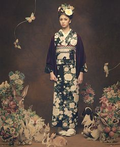 """fuckyeahwafuku: """" I wish they would put up a ton of hi-res photos from this shoot… I wish all kimono designers would do shoots like this!! """""""