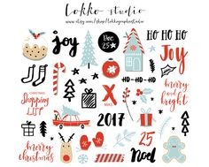 Christmas clipart / Christmas quotes / Christmas clip art / Christmas overlays / hand drawn / tree / joy / floral / PNG / vectors by LokkoGraphicStudio on Etsy https://www.etsy.com/uk/listing/478260252/christmas-clipart-christmas-quotes