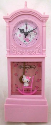 pink hello Kitty clock