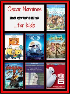 When choosing movies for your kids to watch (or own), how do you know which are good? Well, in my experience, the Oscar Nominees are pretty stinking good movies. So, start your 2015 library with some of these Oscar Nominee movies for kids!