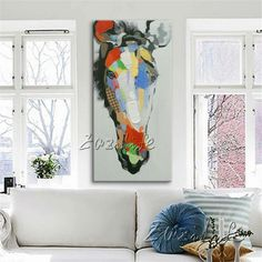 Horse hand painted Oil painting On Canvas Wall Art Pictures Paintings For Living Room Cuadros Decoracion Pop art modern abstract