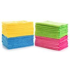 Simpli-Magic Multi Color Large Microfiber Cloths Pack of Ideal for Home, Kitchen, Auto, Glass, Makeup Removing & Pets Easy Magic, Pink Towels, Janitorial Supplies, Clean Microfiber, Cleaning Solutions, Branding Design, Cleaning Cloths, Auto Detailing, Sam's Club