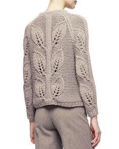 Crochet Fashion, Diy Fashion, Lace Knitting, Knit Crochet, Lela Rose, Knitting Designs, Knit Patterns, Wide Leg Pants, Pullover Sweaters
