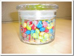 "*Power Pellets -Anytime I call out ""Power Position"" the students have to stop what they are doing, fold their arms, and look at me.  The first one to do so quietly will get a Power Pellet (aka, one skittle).  Seriously teachers, THIS WORKS! I don't even really yell the words, I just simply and casually say them and they stop.  It's magic what one Skittle will do for a kiddo! :}"