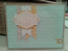 We love the subtle color palette of this beautiful card.