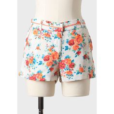 Expedition Floral Shorts ($39) ❤ liked on Polyvore