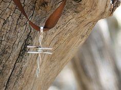 Handmade Sterling Silver Barbed Wire Cross by OakTreeJewelers, $25.00