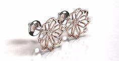laj-shop   Bijoux bijoux en argent, rose gold, or rose, fleurs, flowers, champêtre, ventre en ligne, créateur, boucles d'oreilles, earring, stones, topaze.