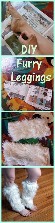 Easy DIY furry leg warmers tutorial