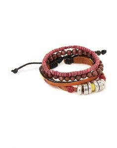 Icon Brand Bracelet with Mixed Beads