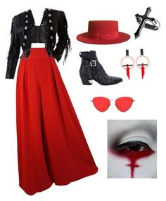 """""""Red reaper"""" by katrain on Polyvore featuring Yves Saint Laurent, Balmain, Mexicana and Toolally Balmain, Yves Saint Laurent, Shoe Bag, Polyvore Fashion, Red, Stuff To Buy, Clothes, Shopping, Collection"""