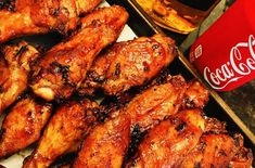 Jim Beam and Coke Glazed Chicken Wings - Cooks Well With Others Sweet Potato Skins, Loaded Sweet Potato, Sweet Potato Wedges, Glazed Chicken, Crusted Chicken, Chicken Wings, Shredded Buffalo Chicken, Buffalo Chicken Wraps, Bbq Chicken Salad
