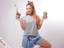 mydearlove Shirt, Mini- Kaktus, Grau Melliert