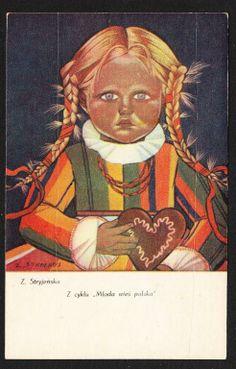 Zofia Stryjeńska Z cyklu Młoda wieś polska Poland, Art Decor, Folk, Princess Zelda, Illustrations, Artists, Photography, Fictional Characters, Design