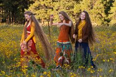 #Band Parousia. how can hair can any more beautiful than that. These sisters have a band called Parousia. Wonderful music!