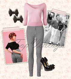 Just a lovely retro look. Wear it like Brigitte Bardot!