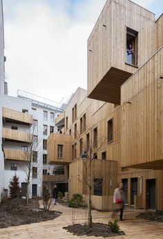 BEST HOUSING: Tete in L'air, a wooden apartment building north of Paris, France.